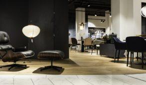 Hvite gulv mot svarte vegger, marmorfliser fra Mirage
