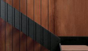 Keramisk flis i storformat inspirert av corten stål