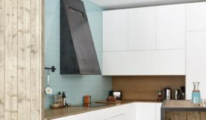 Fargerike kjøkken med små fliser i sterk farge