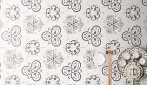 Fliser med mønster til gulv eller vegg