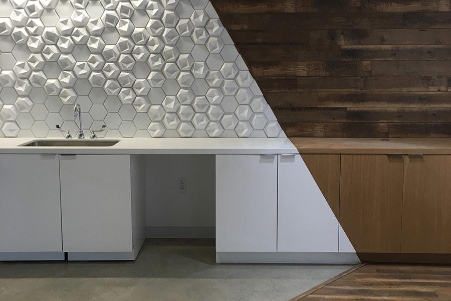 3D flis til vegg, håndlaget