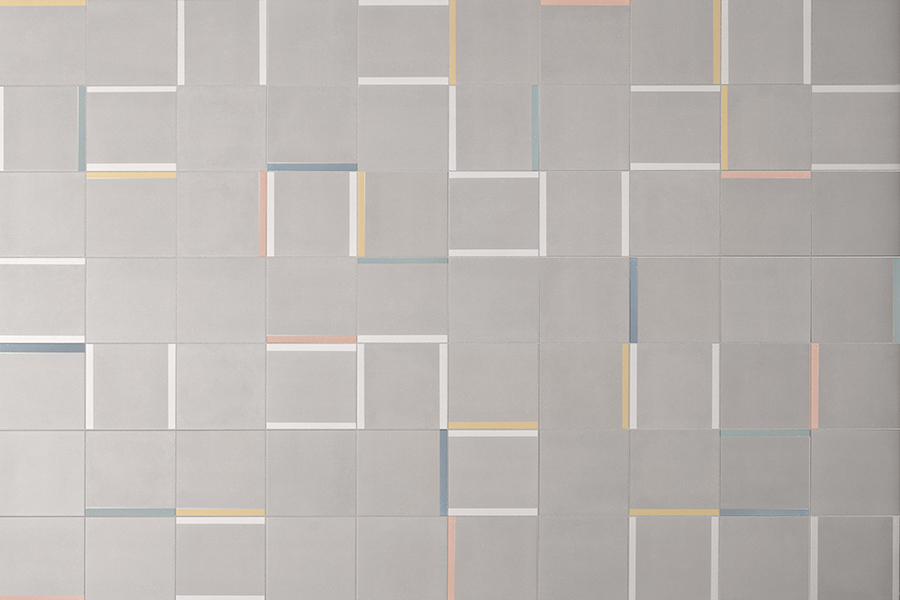 Flis med grafisk mønster