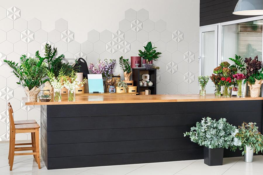 3D veggflis til kjøkken, hexagon og relieff