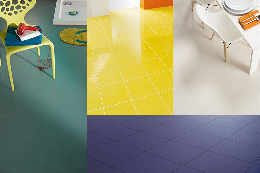 Fargerike fliser til gulv og vegg
