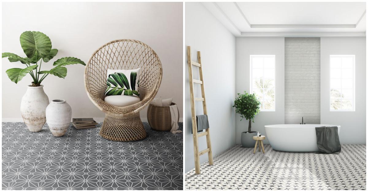 Klassisk kompassrose og minimalistisk mønster.