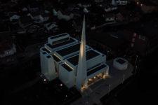 Østre Porsgrunn kirke nattbilde