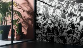 Spraglete flis inspirert av marmor