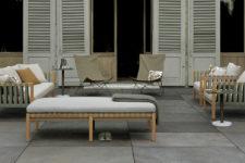 Flislagt terrasse med fliser inspirert av altaskifer