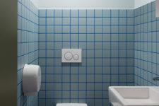 Porsche Oslo Blått toalett
