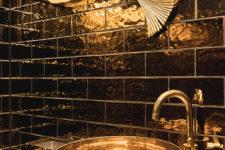 Vipps Oslo metallic fliser på wc