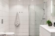 Tidløst bad på Råholt med innfellbare dusjvegger