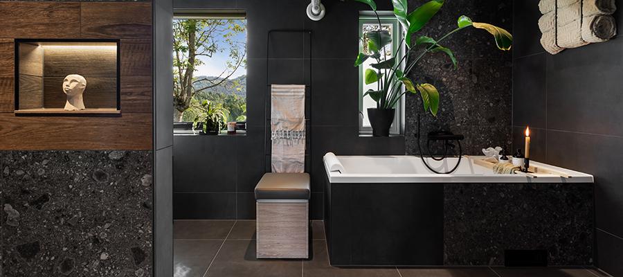 Bli inspirert av dette unike badet fra Porsgrunn!
