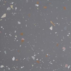 Mørk grå keramisk terrazzo fra Kerion