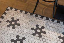 Magnum vinbar Bodø med hexagon gulvflis i mønster