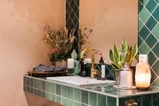 Mode studio Ramsalt grønne fliser Vitra Retromix