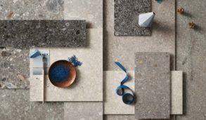 Collage med fliser i serien Norr