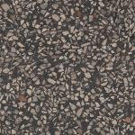 Terrazzoflis med mørk grå bunnfarge og store flak