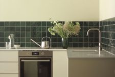 Havestue Oslo Aula kjøkken med Vitra Retromix emerald green